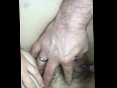 Fucking wife in pussy and ass