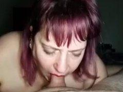 BBW Sexy Eyes Surrounds Cock with Huge Tits While Giving Hot Blowjob