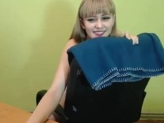 Ansamblia - very hot and beautiful ukrainian girl playing with ohmibod
