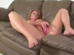 Squirting mature on couch