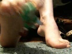 Giantess Pixxxie Crushes Mini Figure (YOU!) With Heels Then Barefoot