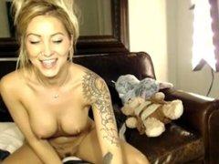 Karli Kennedy strips for webcam  - Part 1