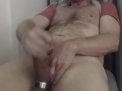 sTroking cock and cum shot nails the web cam