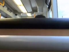 girl does a handjob in the train