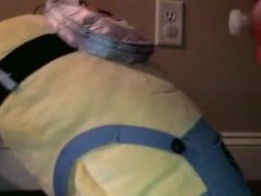 Hot blond amateur gets her tight minion pussy fucked by Dave