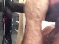 BBC Throat Fucks White Muscle Stud
