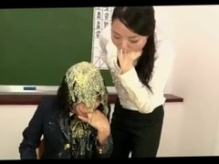 Student and teacher puke together