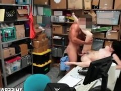 Big Titty Skinny Teen Thief Busted & Fucked By Corrupt Store Officer