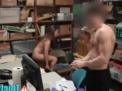 Teen Thief Roughed Up & Fucked By Dirty Mall Cop
