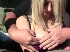 Handcuffed Miniskirted Blond Gets Spanked and Flogged