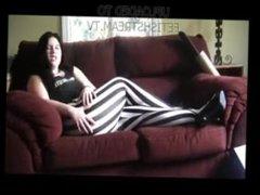 Farts In Striped Leggings