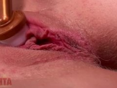 Orgasm contractions in your face @ 1:15
