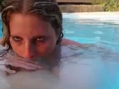 Giving Head in the pool