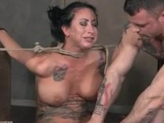 Lily lane is destroyed by a brutal face fucking, while being made to cum ov