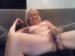 Masturbation blonde granny - gilf gets too horny and cant help herself