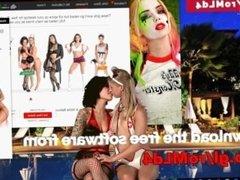 Teen models striptease on your desktop.