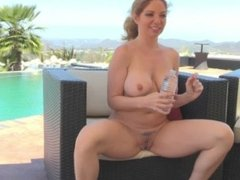 Behind the scenes with MILF Kiki as she gets choke fucked for FTVMilfs.com