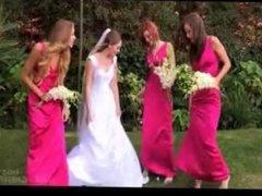bride and bridesmaid has no panties