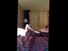 Husband fucks Chubby Wife and skinny friend in Hotel