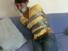 Taped up in jeans