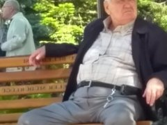 Granpa in Public Park Bench - Part 2