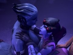 Liara and Widowmaker getting fucked