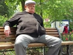 Granpa in Public Park Bench - part 3