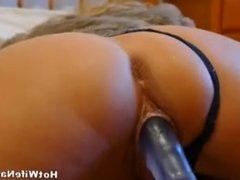 Amateur Milf Hot Wife Toy Fucked And Fingers Own Asshole