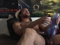 Hot Guy Masturbate with Fleshjack