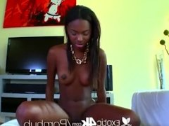 Exotic Young black teen Armani sucks and fucks
