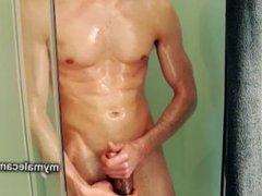 Oiling Myself, Masturbation and Cum.