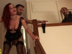 English sub slut rough fucked doggystyle