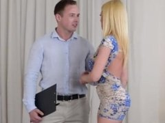 Desperate housewife gets a hard cock from her divorce lawyer