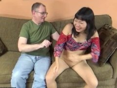 Tourist gets to be sucked off by the brunette Asian