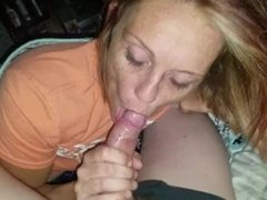 Hot milf sucks me off and swallows my load of cum