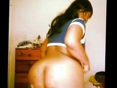 Ebony bbw twerking nude ass