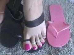 Goddess Grazi - Pink Nails and Toe Rings