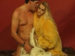 girls and boys in fur coat