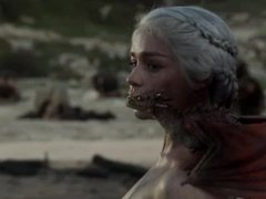 Emilia Clarke naked Game Of Thrones S01E10