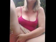 masturbación al aire libre