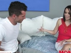 Brunette MILF Savannah Fyre fucks her son's horny friend - Naughty America