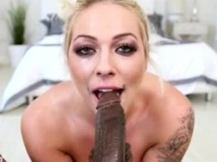 "Extreme Deepthroat of 9"" Black Cock (All the way down only for a few secs)"