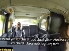 MILF cabbie facesitting her horny passenger
