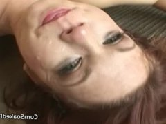 Black cocks with a white whore gagging rimming and choking