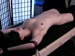 Exposed Teen Bound and Made to Orgasm