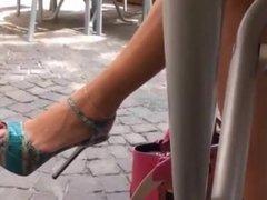 Bare Feet In Open High Heels 3
