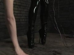 Girl in Latex Bondage and Breathplay
