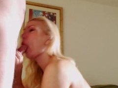 Deepthroat all the way down, Fucked and 34JJ tits spunked over
