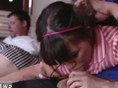 Amia's daddy caught crony's daughter hot spoiled the