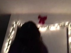 Teen girlfriend twerks on my cock